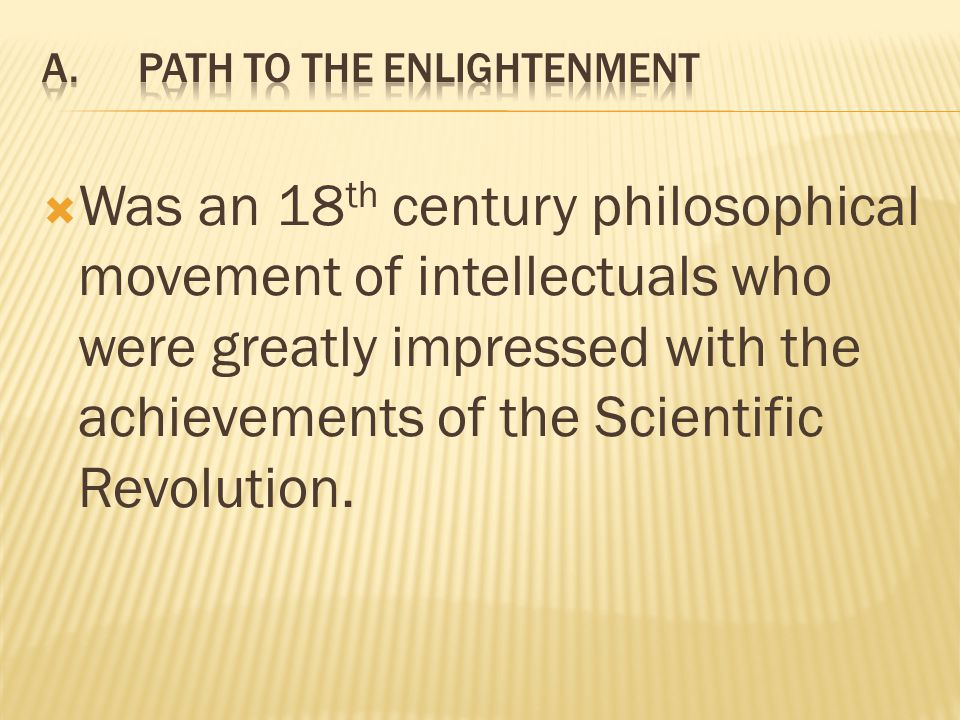 A. Path to the Enlightenment