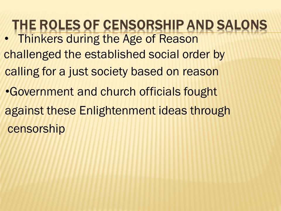 The Roles of Censorship and Salons