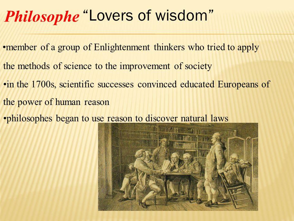 Lovers of wisdom Philosophe