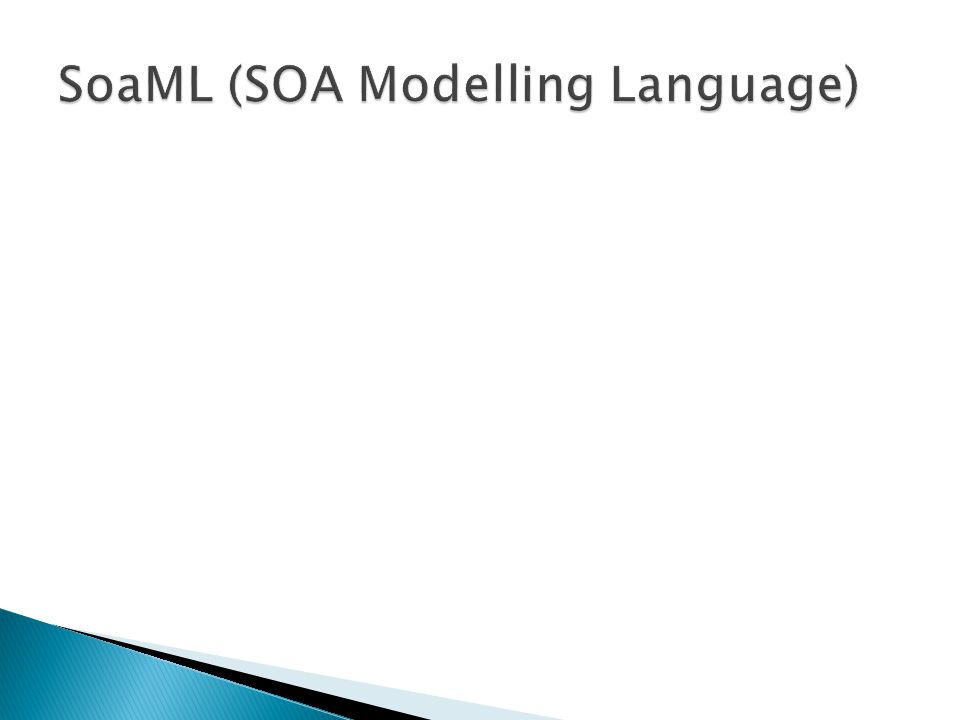 SoaML (SOA Modelling Language)