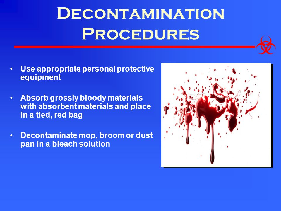 Decontamination Procedures