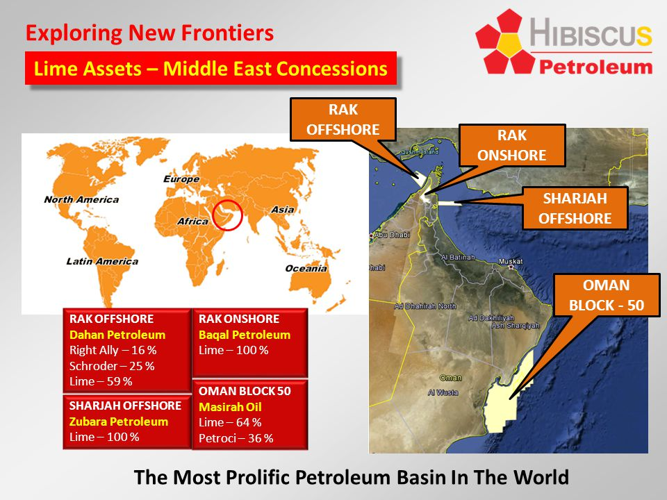 Exploring New Frontiers Lime Assets – Middle East Concessions