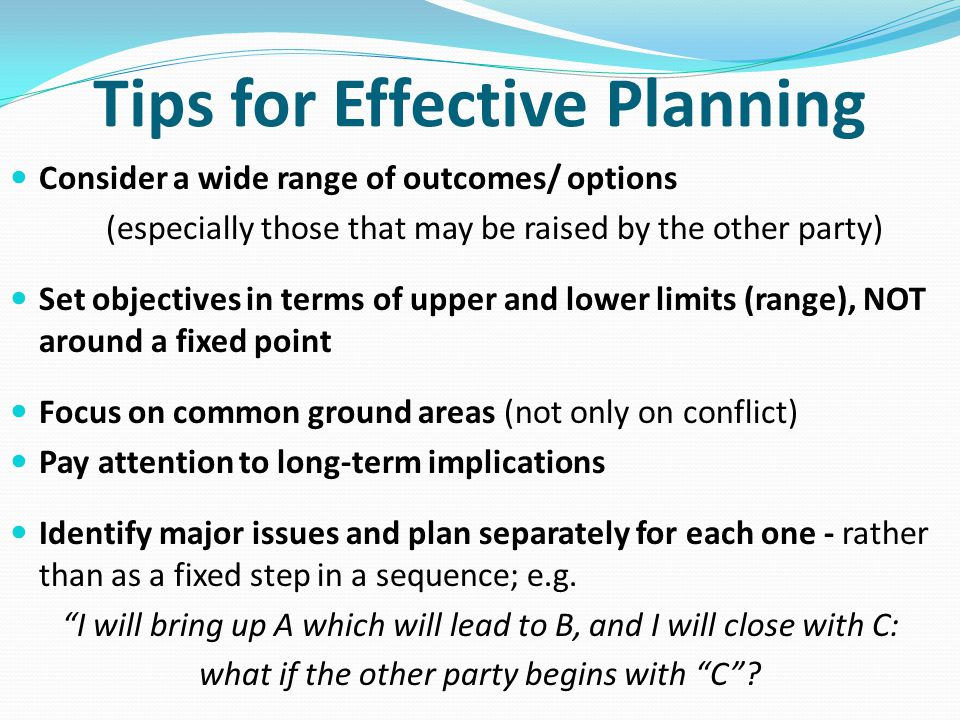 Tips for Effective Planning