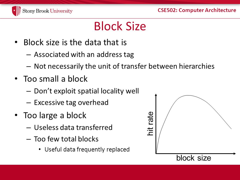 Block Size Block size is the data that is Too small a block