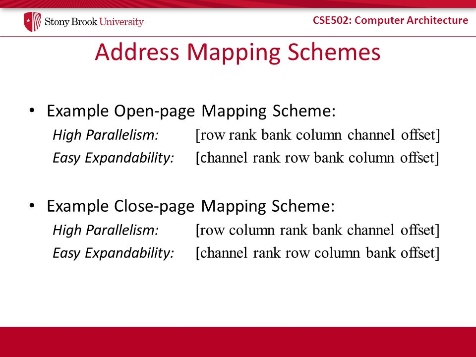 Address Mapping Schemes