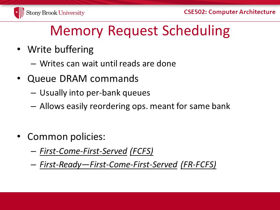Memory Request Scheduling