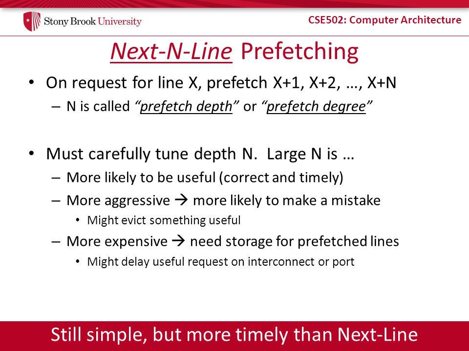 Next-N-Line Prefetching