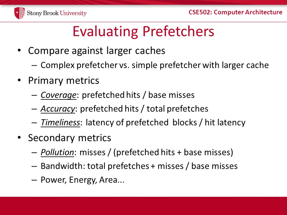Evaluating Prefetchers