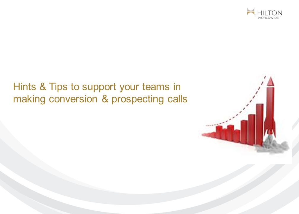 Making effective sales conversion calls