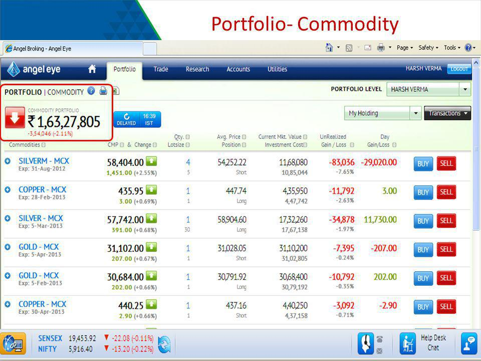 Portfolio- Commodity