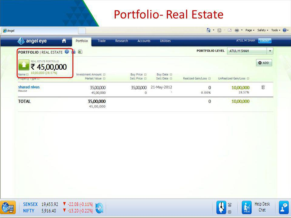 Portfolio- Real Estate