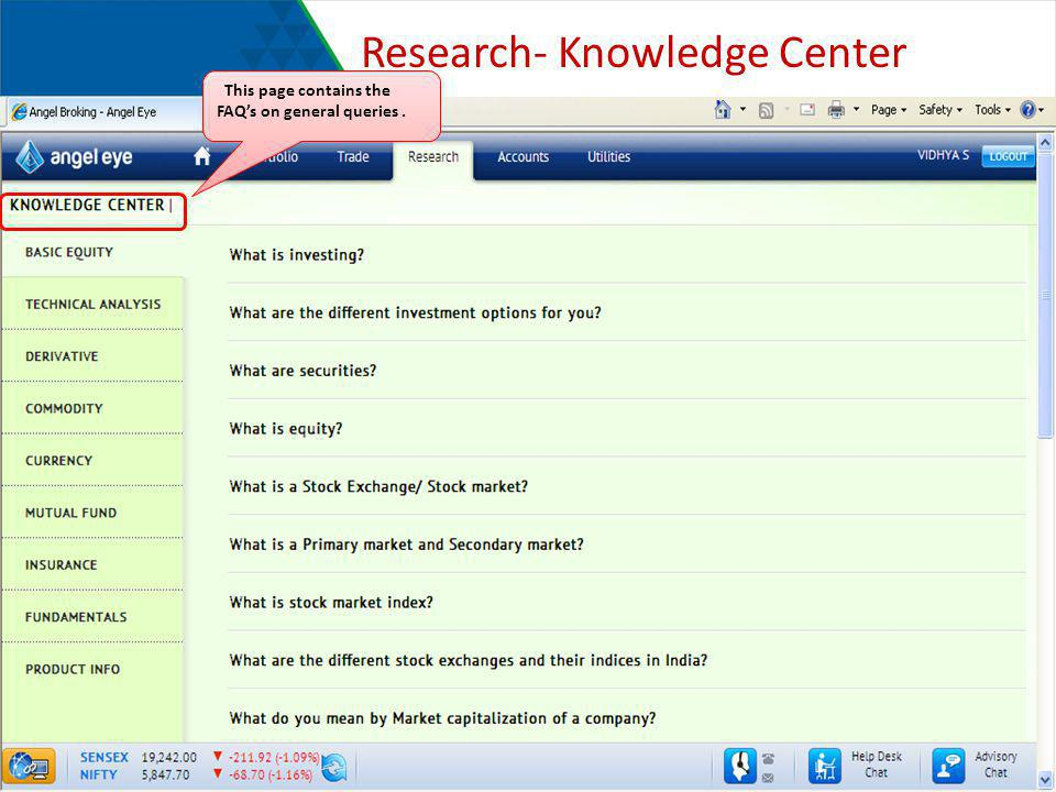 Research- Knowledge Center