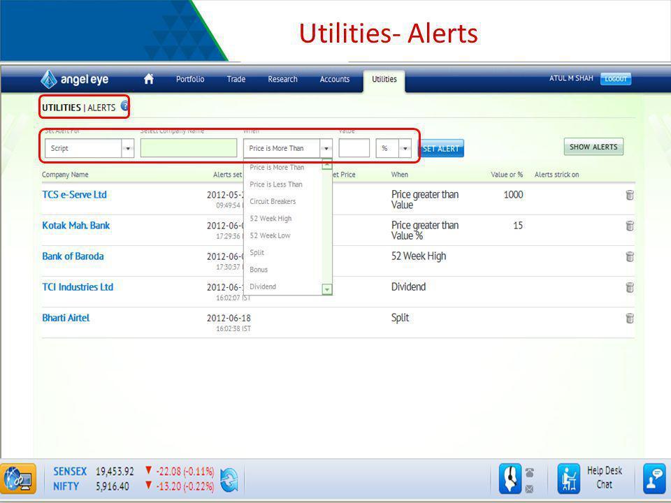 Utilities- Alerts