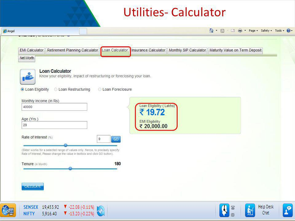 Utilities- Calculator