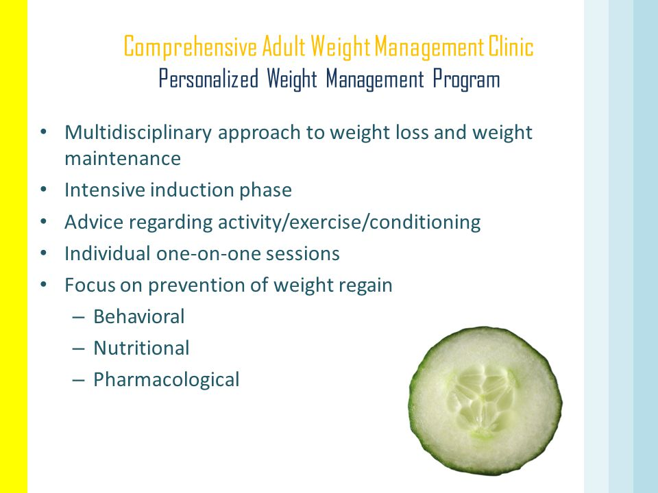 Comprehensive Adult Weight Management Clinic Personalized Weight Management Program