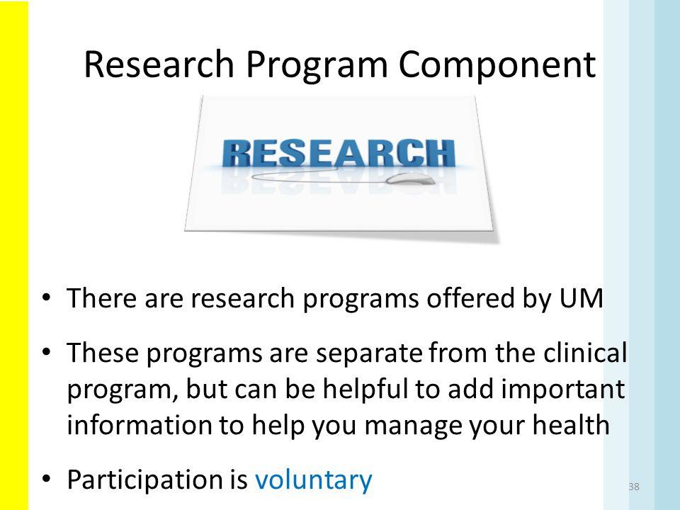 Research Program Component