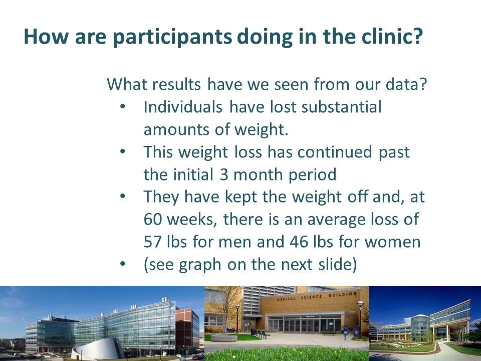 How are participants doing in the clinic