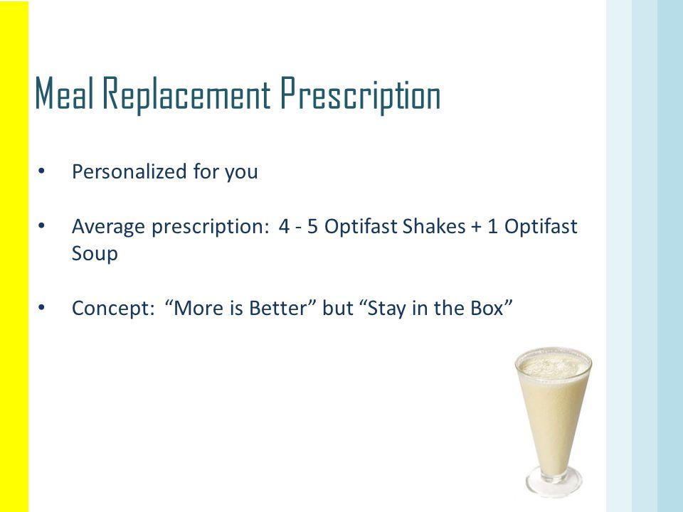 Meal Replacement Prescription