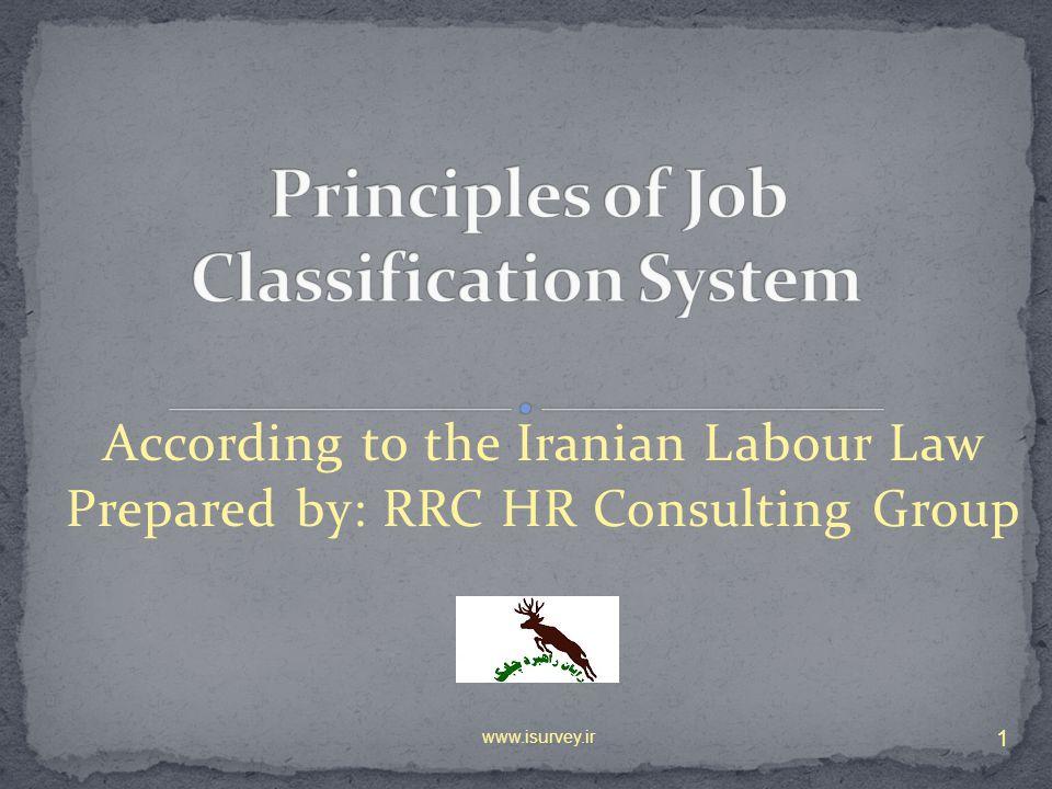 Principles of Job Classification System