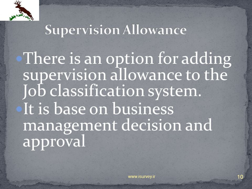 Supervision Allowance