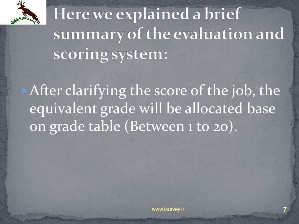 Here we explained a brief summary of the evaluation and scoring system: