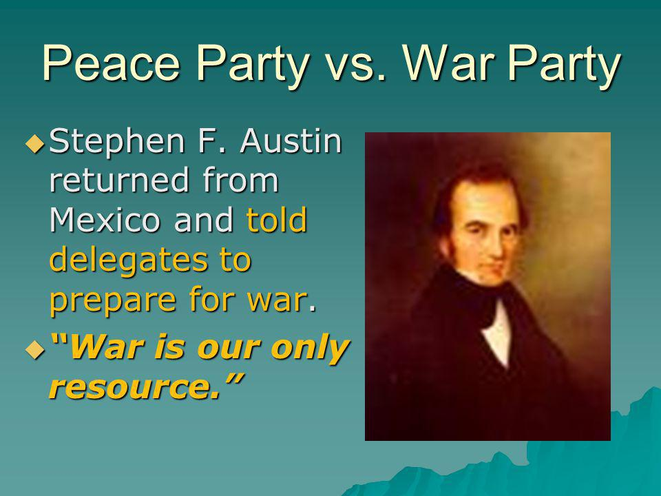 Peace Party vs. War Party
