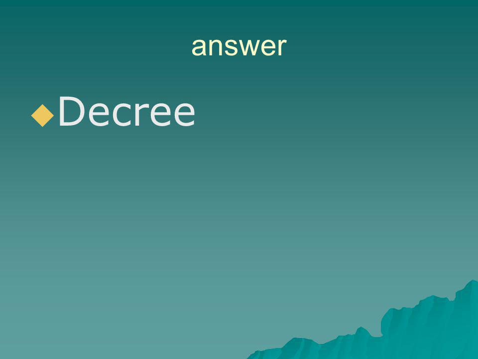 answer Decree