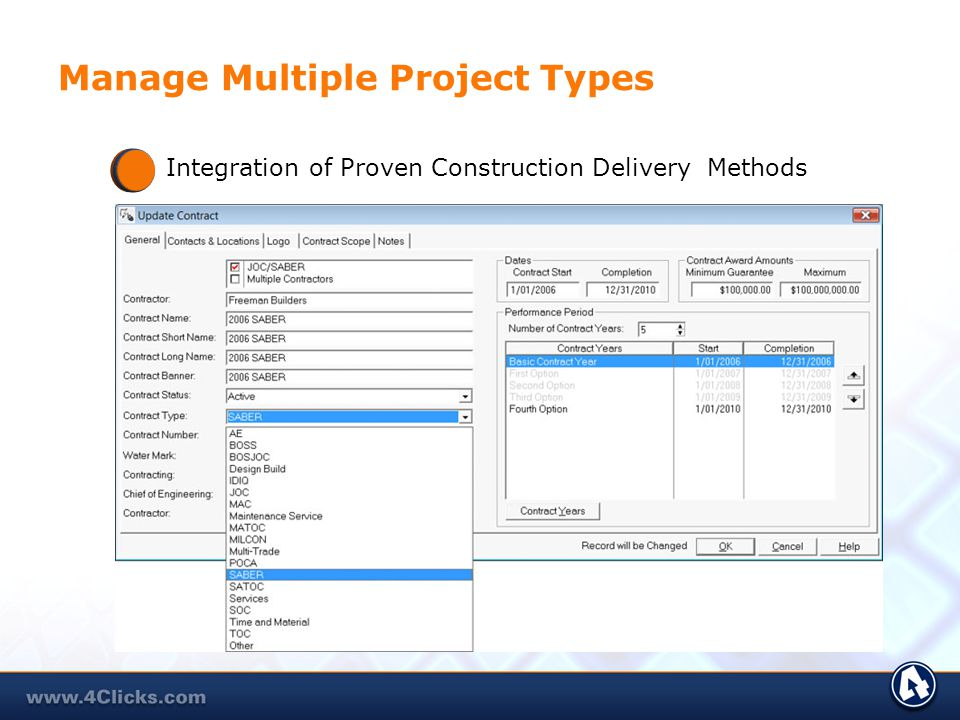 Manage Multiple Project Types