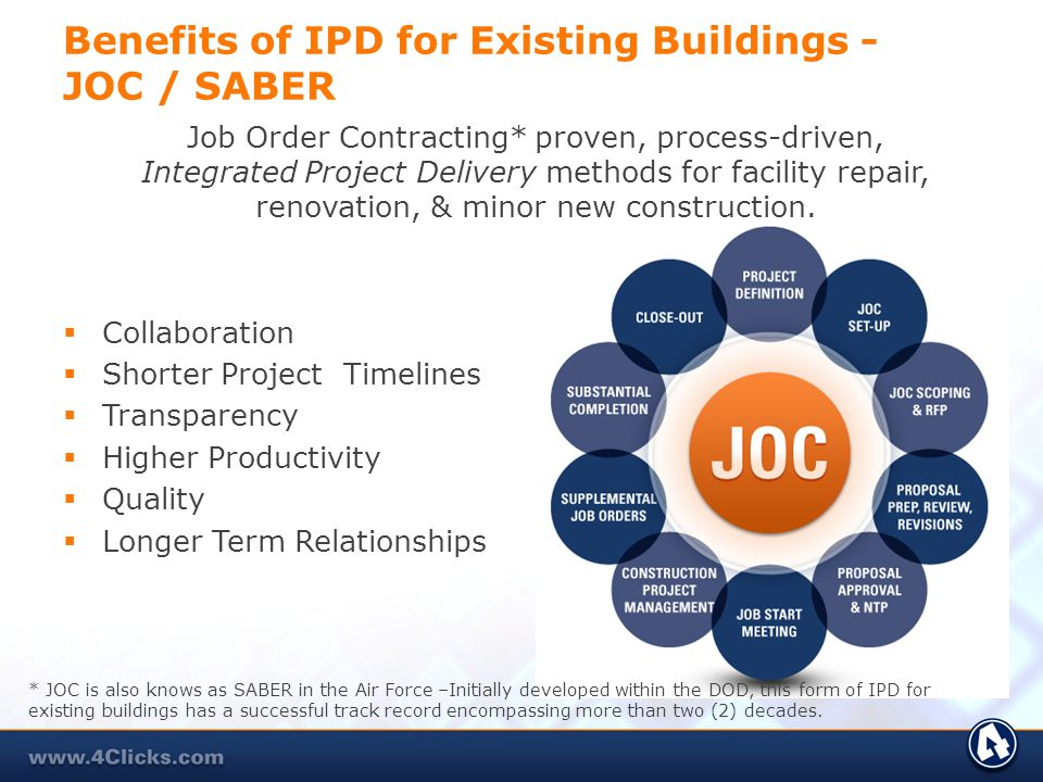 Benefits of IPD for Existing Buildings - JOC / SABER