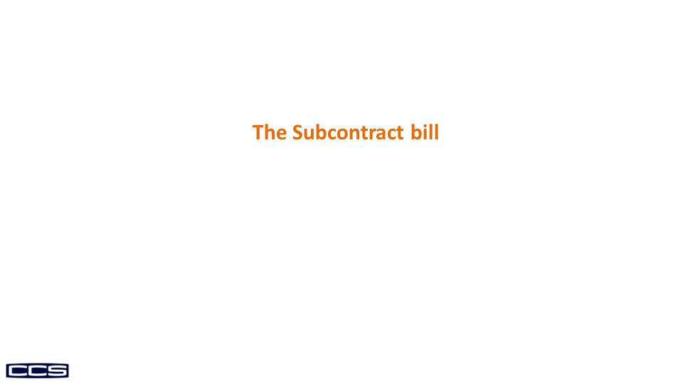 The Subcontract bill