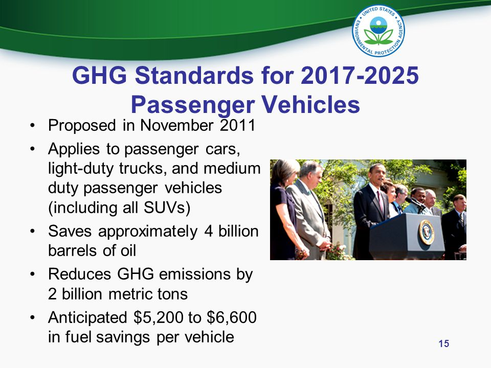 GHG Standards for 2017-2025 Passenger Vehicles