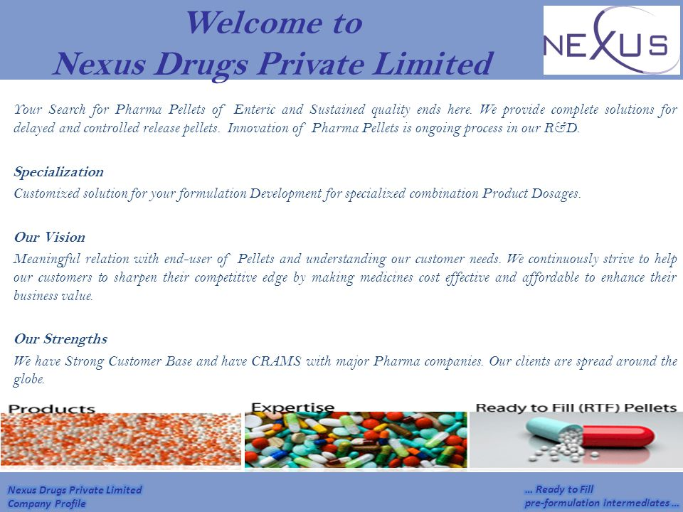 Welcome to Nexus Drugs Private Limited
