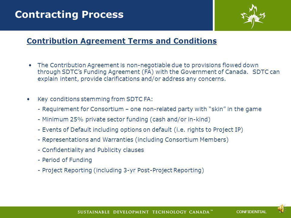 Contracting Process Contribution Agreement Terms and Conditions