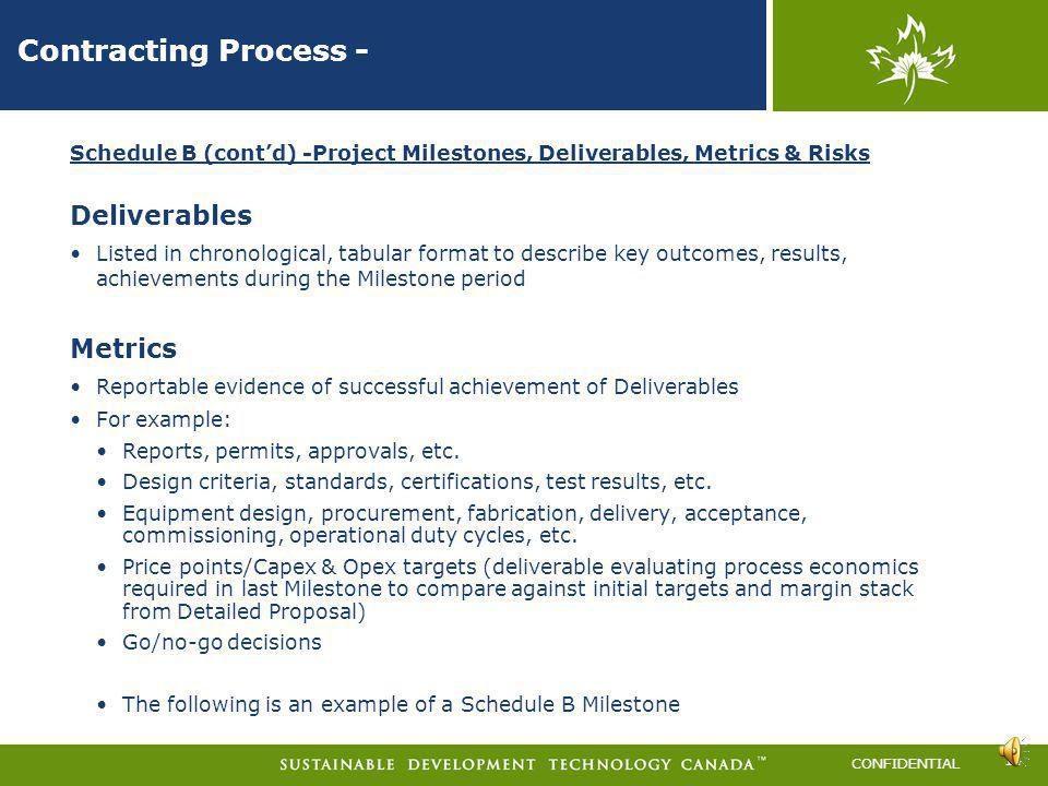Contracting Process - Deliverables Metrics