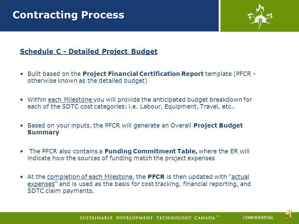 Contracting Process Schedule C - Detailed Project Budget