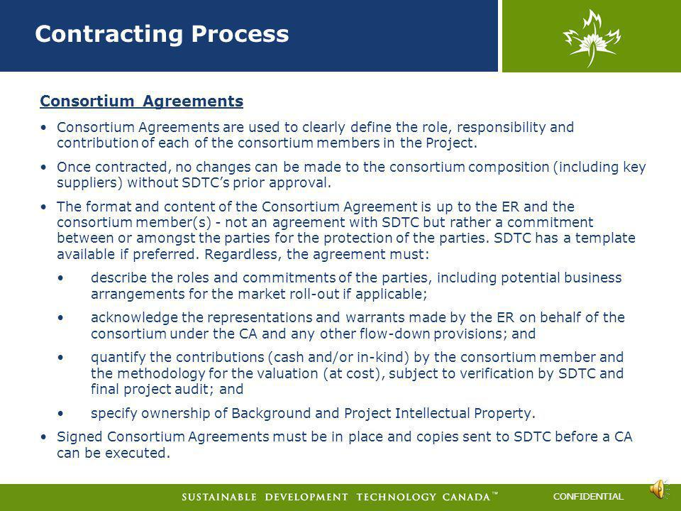 Contracting Process Consortium Agreements