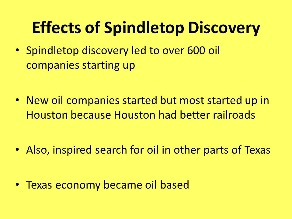 Effects of Spindletop Discovery