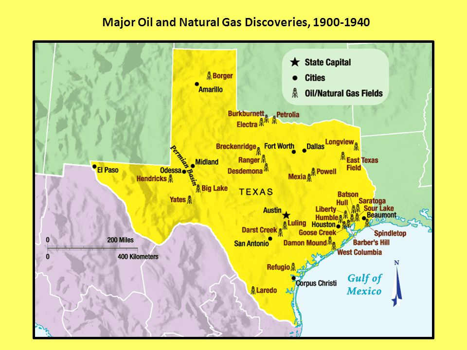 Major Oil and Natural Gas Discoveries, 1900-1940