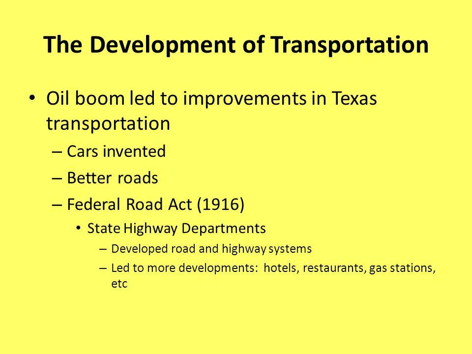 The Development of Transportation