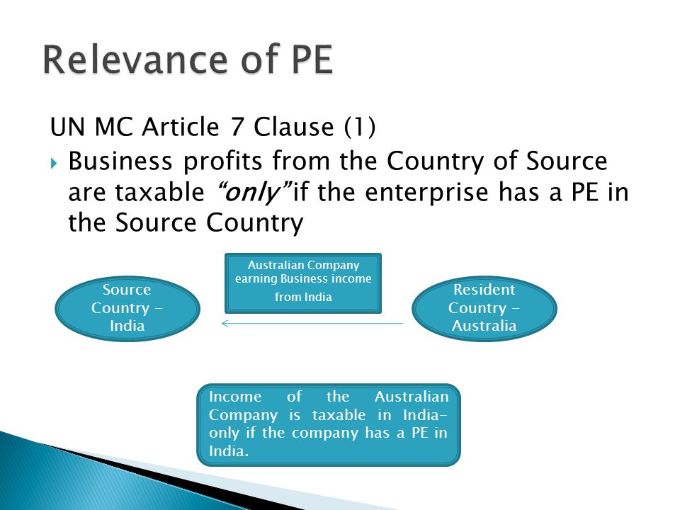 Relevance of PE UN MC Article 7 Clause (1)
