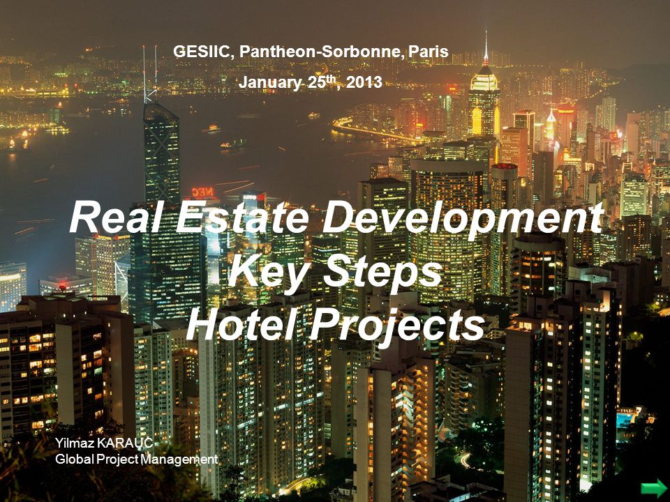 Real Estate Development Key Steps Hotel Projects
