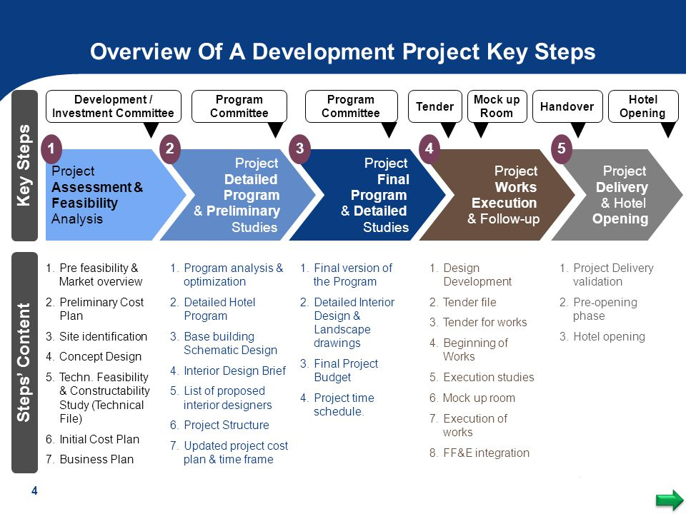 Overview Of A Development Project Key Steps