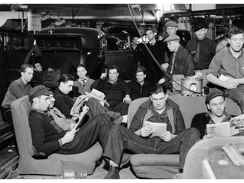 fig21_11.jpg Page 824: Sit-down strike at a General Motors factory in Flint, Michigan, 1937.