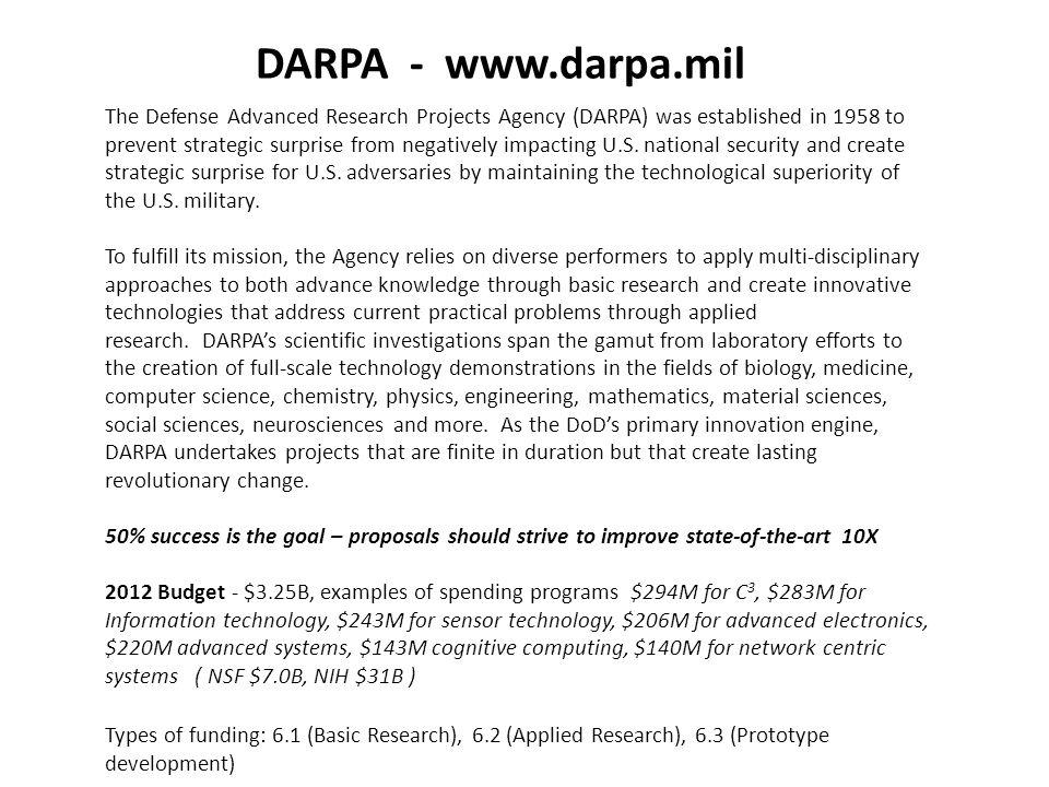 DARPA - www.darpa.mil