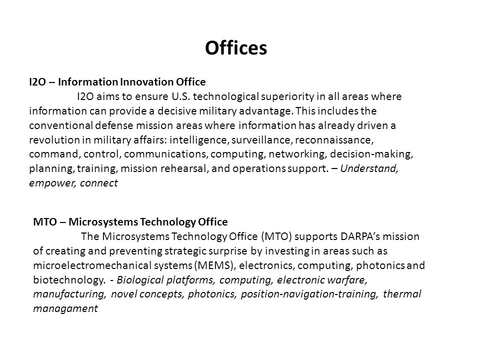Offices I2O – Information Innovation Office