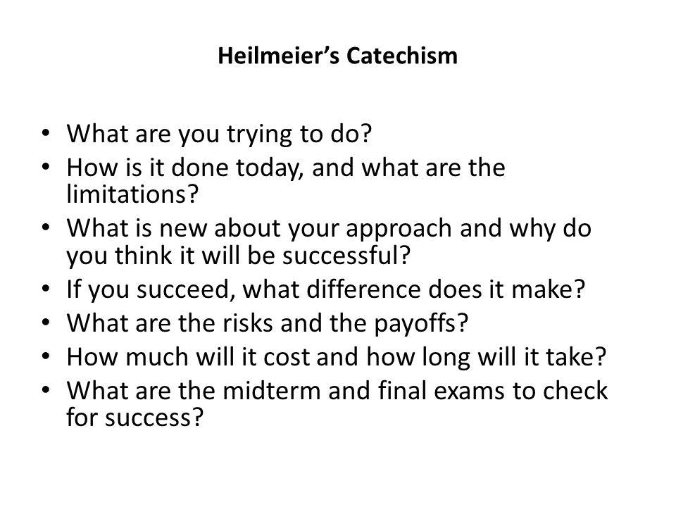 Heilmeier's Catechism
