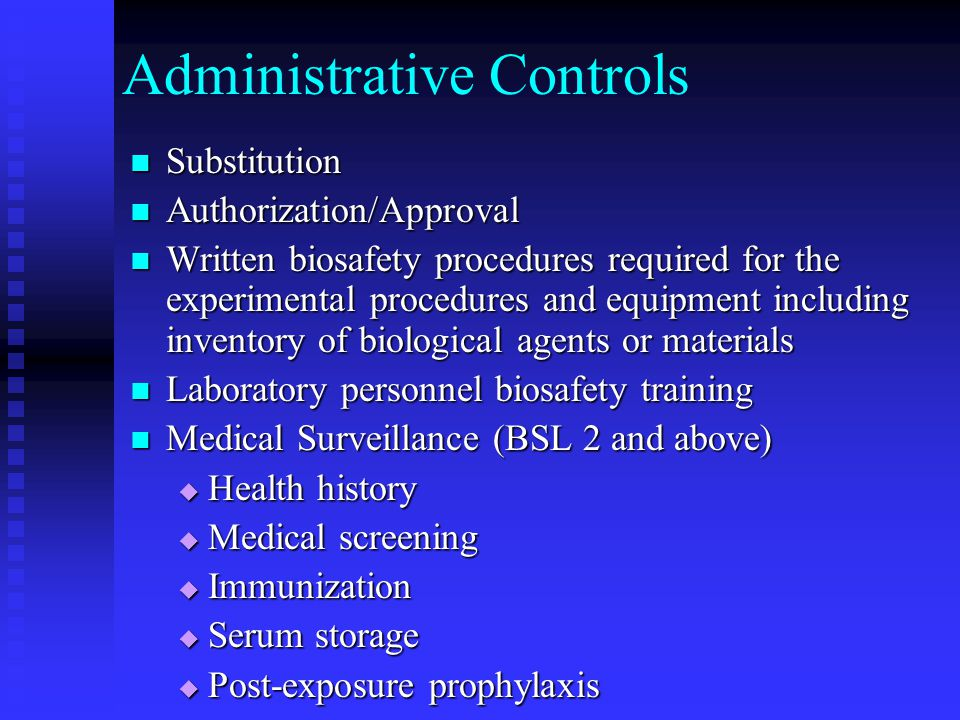 Administrative Controls