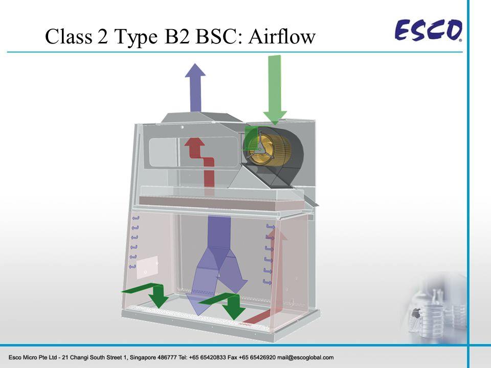 Class 2 Type B2 BSC: Airflow