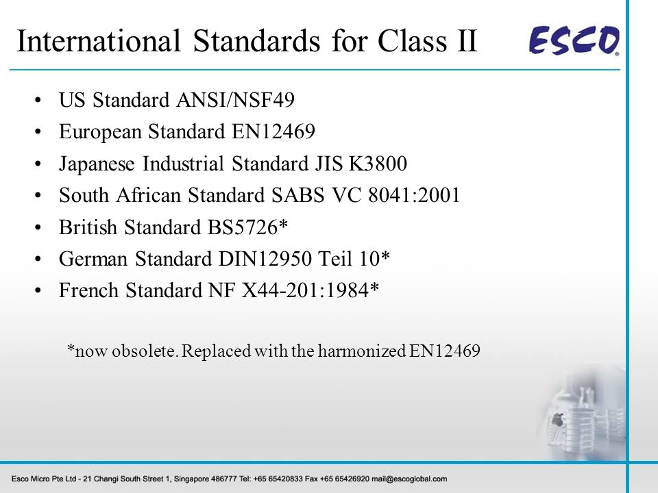 International Standards for Class II
