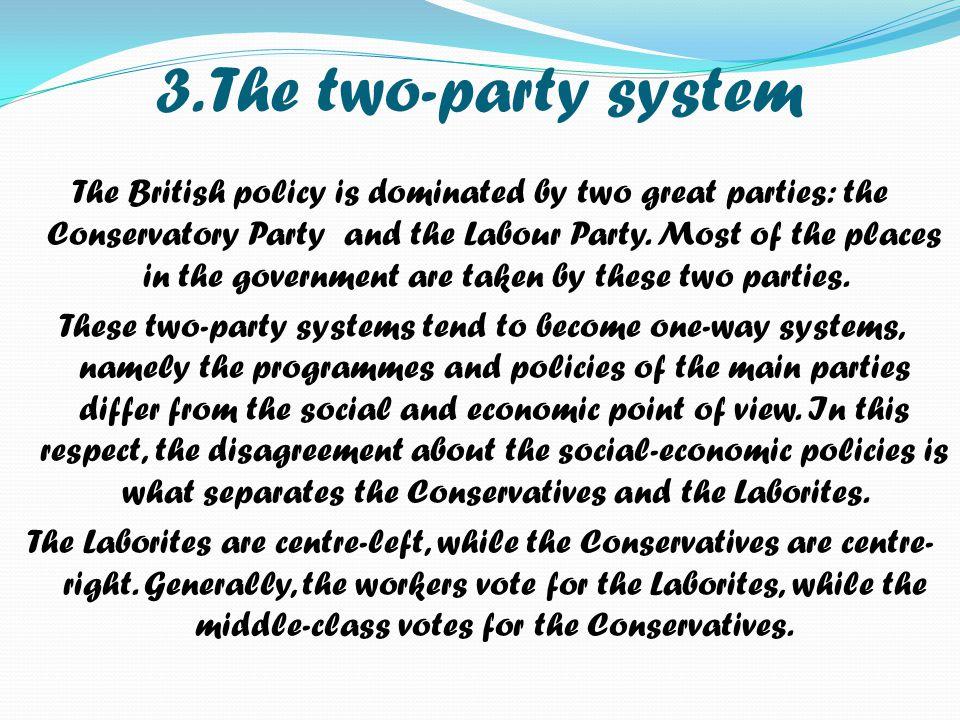 3. The two-party system